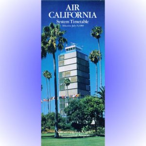 Air California system timetable 7/15/80 ($)