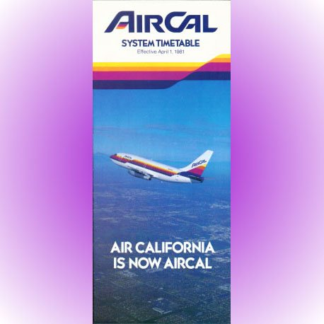 AirCal system timetable 4/1/81 ($)