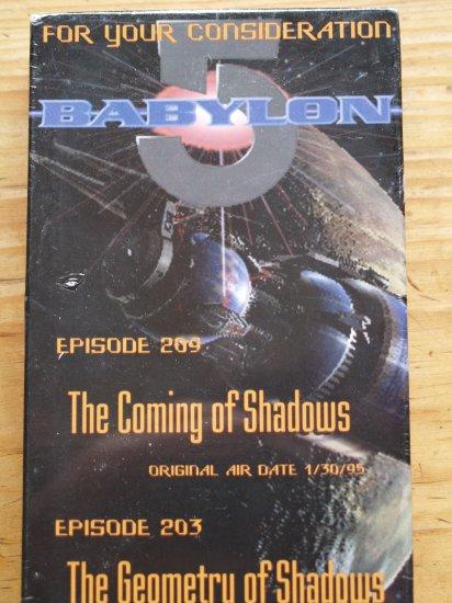 Babylon 5 Emmy VHS Video 2 episodes RARE Geometry Shadows