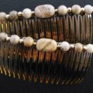 Picture Jasper Gemstone Hair Jewelry Pair - UnusualJewels