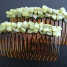 NEW Olive Jade Gemstone Hair Jewelry Combs from UnusualJewels