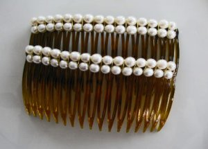 Just Pearls Hair Jewelry Combs Pair