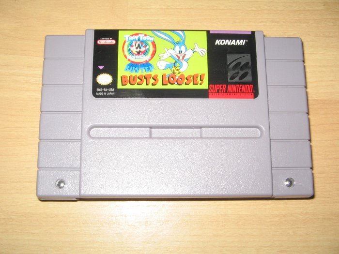 SNES Super Nintendo Tiny Toon Adventures Buster Busts Loose Game