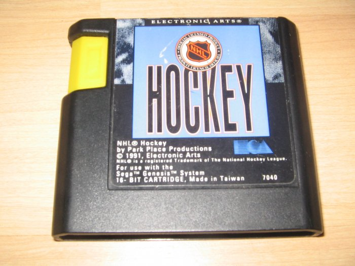 Sega Genesis NHL Hockey Game