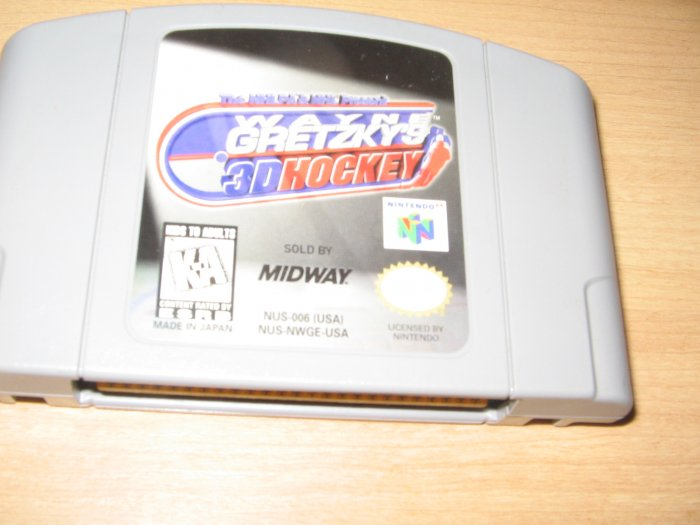 N64 Nintendo 64 Wayne Gretzkys 3D Hockey Game