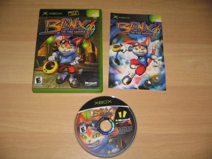 Xbox Blinx the Time Sweeper Game