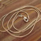 Sterling Silver Plated Snake Chain, 20 inch