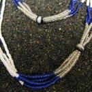 Multi-strand glass bead necklace