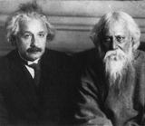 Albert Einstein with R.Tagore - 554x480 pixels - only email delivery.