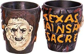 2 New Leatherface Shot Glasses Texas Chainsaw Massacre