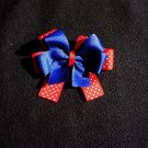 Red, white, and blue Hairbow