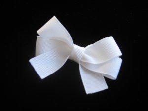 2 White Mini Hair Bow FREE SHIPPING
