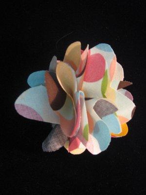 Rainbow Polka Dotted Handmade Flower