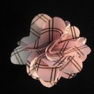 Brown and pink checkered Handmade Flower