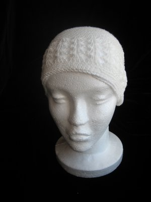 Off White Crochet Hat
