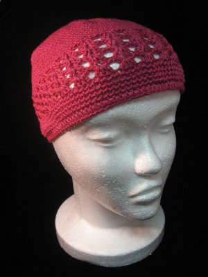 Shocking Pink Crochet Hat
