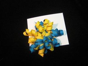 Bright Yellow and Blue Mini Korker