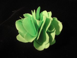 NEW! Apple Green Handmade Flower