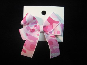 Pink Camo Hairbow