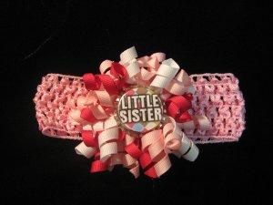 Little Sister Mini Bottle Cap Korker w/ Crochet headband