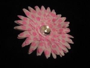 Pink and White Polka Dot Daisy