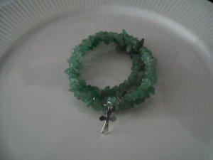 Jade  Chip Memory Bracelet