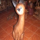 Wooden cat (price in euro)