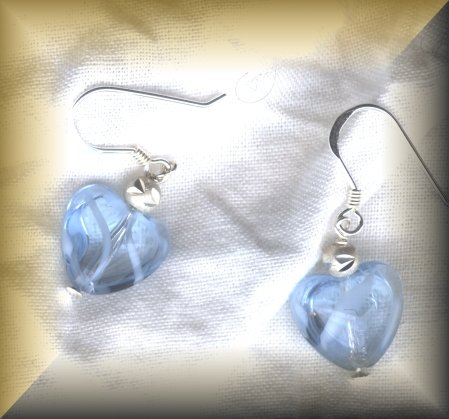 Whimsical Blue Hearts -Sterling Silver (ENV 101)