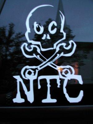 NTC Skull and crossbones sticker
