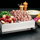 Deni Dual Buffet Server Warming Tray with Metal Lid, Model: 15200