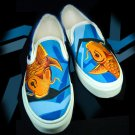 Custom Hand Painted Vans Shoes *Mens Sizes* /// Koi Fish by Yourkicks.com