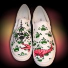 Custom Hand Painted Vans Shoes *Women Sizes* /// Accentuated Alligator by Yourkicks.com