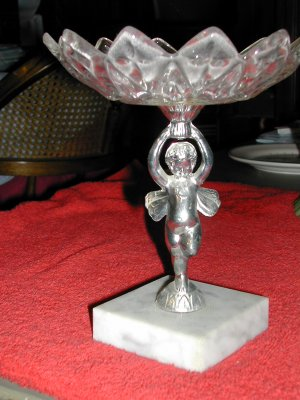 VINTAGE ANGLE STEM CANDY DISH- FREE SHIPPING