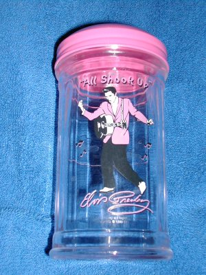 ELVIS GLASS SUGAR CONTAINER- FREE SHIPPING