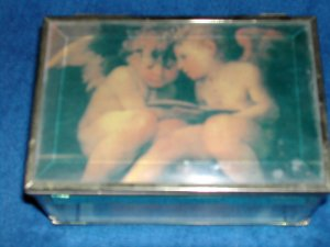 Glass Angel  Jewelry Box- FREE SHIPPING