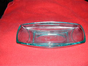 VINTAGE COBALT BLUE DEPRESSION GLASS  DISH