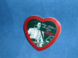 Heart -Shaped Elvis Presley Candy Tin- Free Shipping