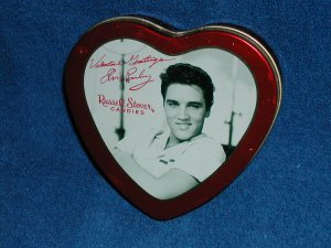 Elvis Presley Heart Shaped Candy Tin- Free Shipping