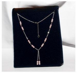 Powder Rose Swarovski Pearl Necklace