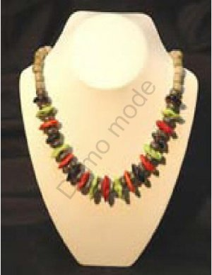 Multi-Colored Bead Necklace