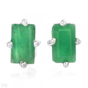 0.60ctw  Emerald Earrings