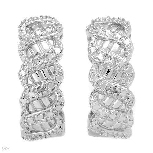 Genuine Diamonds earrings in 925 Silver