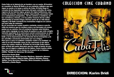Happy Cuba Cuban DVDs and movies-Free S&H Worldwide.