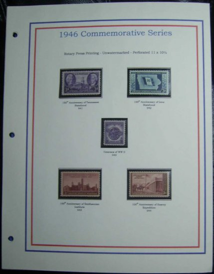 1946 USA MNH Stamps on page - Commemoratives E8616