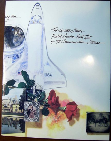 1981 USPS Commemorative Album with complete set of MNH Mounted stamps E0959