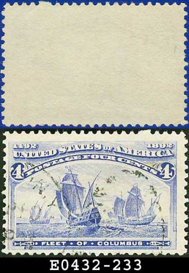1893 USA USED Scott# 233 � 4c Fleet of Columbus