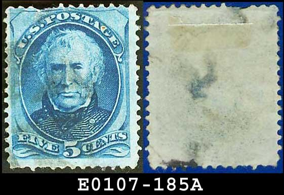 1879 USA USED Scott# 185 � 5c Taylor � Blue American Bank Note Printing