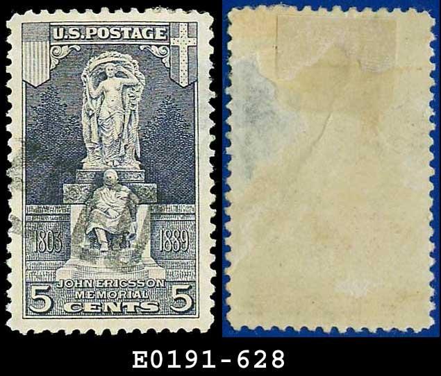 1926 USA USED Scott# 628 � 5c John Ericsson Statue � Ericsson Memorial