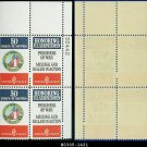 1970 USA MNH Sc# 1421-22 Plate#  Block of Four – 6c Disabled American Veterans & Prisoners of War