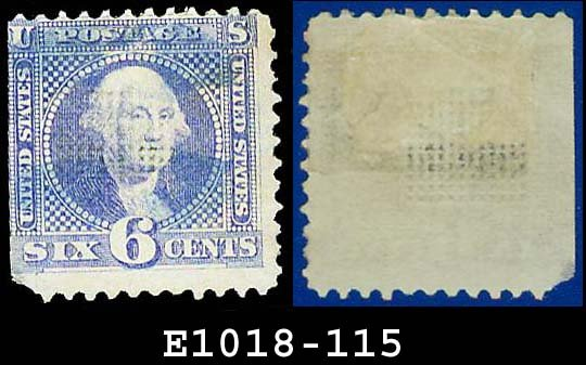 1869 USA USED Scott# 115 � 6c Washington Pictorial � 1869 Pictorial Issues